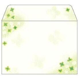 ササガワ SASAGAWA はがき用封筒 (縦114mm×横162mm・10枚) 和ごころ 白つめ草 16-1981[161981]