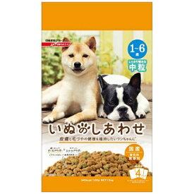 日清ペットフード Nisshin Pet Food いぬのしあわせ 中粒1歳〜6歳までの成犬 1.5k〔ペットフード〕