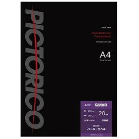 ピクトリコ PICTORICO GEKKO パール・ラベル(A4・20枚) GKN-A4/20[GKNA420]【wtcomo】