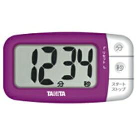 タニタ TANITA デジタルタイマー でか見えプラス TD394-PP フレッシュパープル[TD394PP]