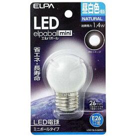 ELPA エルパ LDG1N-G-G250 LED装飾電球 ミニボール電球形 LEDエルパボールmini ホワイト [E26 /昼白色 /1個 /ボール電球形][LDG1NGG250]