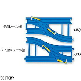 タカラトミー TAKARA TOMY プラレール R-15 複線幅広ポイントレール