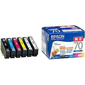 エプソン EPSON IC6CL70 純正プリンターインク Colorio(EPSON) 6色パック[さくらんぼ IC6CL70]【wtcomo】