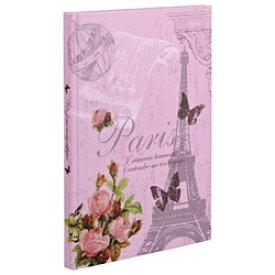 ナカバヤシ Nakabayashi ブック式フリーアルバム 100年台紙(黒) A4サイズ ピンク