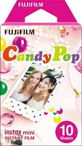 富士フイルム FUJIFILM チェキ インスタントフィルム カラー instax mini CandyPop(キャンディポップ) [10枚 /1パック][チェキ用フィルム]