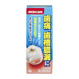 【第2類医薬品】 メディケアデンタルクリームT(4g)【wtmedi】森下仁丹 Morishita Jintan