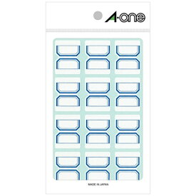エーワン A-one セルフインデックス 中サイズ 青 04006 [15シート /12面 /マット]【rb_mmmg】
