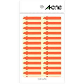 エーワン A-one 特殊ラベル 蛍光赤 08065 [4シート /26面 /6mm×42mm]【rb_mmmg】