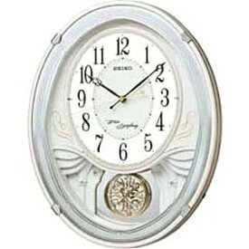 セイコー SEIKO からくり時計 【ウェーブシンフォニー】 白パール AM258W [電波自動受信機能有]