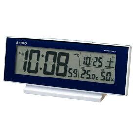 セイコー SEIKO 目覚まし時計 濃青メタリック SQ762L [デジタル /電波自動受信機能有]