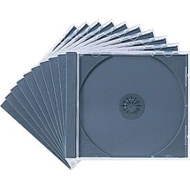 サンワサプライ SANWA SUPPLY Blu-ray/DVD/CD対応収納ケース 1枚収納×10 ブラック FCD-PN10BK[FCDPN10BK]