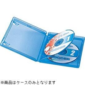 サンワサプライ SANWA SUPPLY Blu-ray/DVD/CD対応ディスクケース インデックスカード付 2枚収納 ブルー BD-TN2-5BL[BDTN25BL]