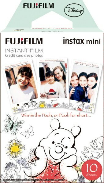 富士フイルム FUJIFILM チェキ インスタントカラーフィルム instax mini 絵柄入りフレーム 「くまのプーさん」 1パック(10枚入)