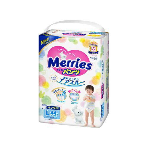 花王 Kao Merries(メリーズ) パンツ さらさらエアスルー Lサイズ 44枚