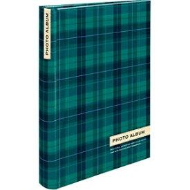 ナカバヤシ Nakabayashi 背丸ブック式ポケットアルバム 「スタンダードチェック」 (L判3段ポケット/グリーン) BPL-240-3-G[BPL2403G]