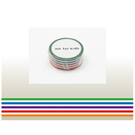 カモ井加工紙 KAMOI mt for kids マスキングテープ(カラフル・ボーダー) MT01KID003