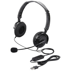 BUFFALO バッファロー ヘッドセット 折りたたみ式 ブラック BSHSUH13BK [USB /両耳 /ヘッドバンドタイプ /オーバーヘッド][BSHSUH13BK]