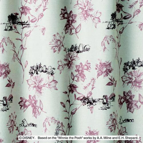 スミノエ ドレープカーテン プー/シーン(100×178cm/ピンク)【日本製】[M1105100X178]
