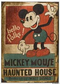 スミノエ SUMINOE ラグ ミッキーマウス/ホーンテッドハウス(100×140cm/レッド)【日本製】[DRM1035100X140]