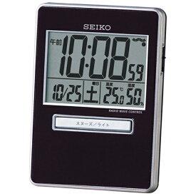 セイコー SEIKO 目覚まし時計 【トラベラ】 黒 SQ699K [デジタル /電波自動受信機能有][SQ699K]