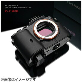 GARIZ ゲリズ 本革カメラケース 【ソニー α7R/α7兼用】(ブラック) XS-CHA7BK[XSCHA7BK]