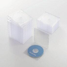 エレコム ELECOM CD/DVD/Blu-ray対応スリムケース 1枚収納×50 クリア CCD-JSCS50CR[ CCDJSCS50CR ]【rb_pcp】