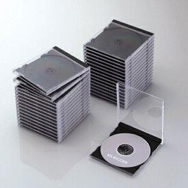 エレコム ELECOM CD/DVD/Blu-ray対応標準ケース 1枚収納×30 ブラック CCD-JSCN30BK[CCDJSCN30BK]