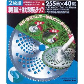 キンボシ KINBOSHI 斜埋込チップソー 255mm 40枚刃 2枚組 210429[210429]