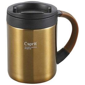 キャプテンスタッグ CAPTAIN STAG シーエスプリ ダブルステンレスマグカップ280(ブラウン) M5369