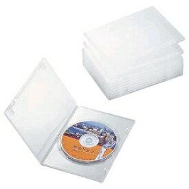 エレコム ELECOM スリムDVDトールケース 1枚収納×10 クリア CCD-DVDS03CR[CCDDVDS03CR]【rb_pcp】