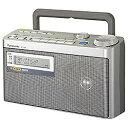 【送料無料】 パナソニック RF-U350 FM/AM 防災ラジオ(FM緊急警報放送対応/シルバー) RF-U350[RFU350]