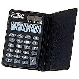 シチズンシステムズ CITIZEN SYSTEMS 手帳型電卓 (8桁) DE8001Q[DE8001Q]
