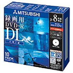三菱化学メディア 録画用DVD-R DL 2-8倍速 CPRM対応 10枚 【インクジェットプリンタ対応】 VHR21HDSP10[VHR21HDSP10]