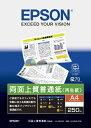 【あす楽対象】 エプソン EPSON 両面上質普通紙 【再生紙】 (A4・250枚) KA4250NPDR
