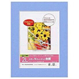 ナカバヤシ Nakabayashi Vカットマット台紙 Digio (2L/ブルー) DGVM-2L-B[DGVM2LB]