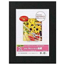 ナカバヤシ Nakabayashi Vカットマット台紙 Digio (2L/ブラック) DGVM-2L-D[DGVM2LD]