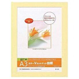 ナカバヤシ Nakabayashi Vカットマット台紙 Digio (A3/イエロー) DGVM-A3-Y[DGVMA3Y]