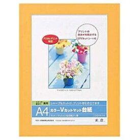 ナカバヤシ Nakabayashi Vカットマット台紙 Digio (A4/オレンジ) DGVM-A4-O[DGVMA4O]