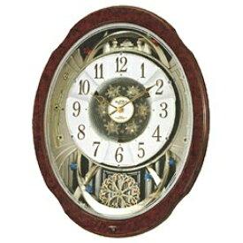 リズム時計 RHYTHM 掛け時計 【スモールワールドブルームDX】 木目 4MN499RH23 [電波自動受信機能有]