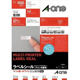 エーワン A-one ラベルシール プリンタ兼用 ホワイト 72150 [A4 /10シート /150面 /マット]【rb_mmme】