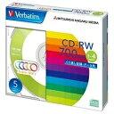 三菱化学メディア 1〜4倍速対応 データ用CD-RWメディア (700MB・5枚) SW80QM5V1
