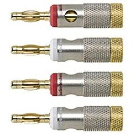 オーディオテクニカ audio-technica ソルダーレスバナナプラグ(4個1組)AT6303