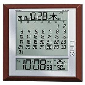 セイコー SEIKO 掛け置き兼用時計 【マンスリーカレンダー】 茶メタリック SQ421B [電波自動受信機能有][SQ421B]