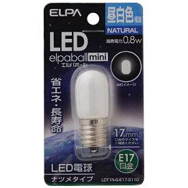 ELPA エルパ LDT1N-G-E17-G110 LED装飾電球 LEDエルパボールmini ホワイト [E17 /昼白色 /1個 /ナツメ球形][LDT1NGE17G110]