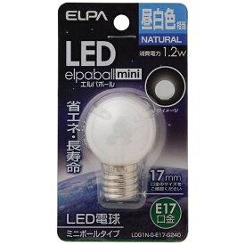 ELPA エルパ LDG1N-G-E17-G240 LED装飾電球 ミニボール電球形 LEDエルパボールmini ホワイト [E17 /昼白色 /1個 /ボール電球形][LDG1NGE17G240]