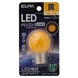 ELPA エルパ LDG1Y-G-E17-G243 LED装飾電球 ミニボール電球形 LEDエルパボールmini ホワイト [E17 /黄色 /1個 /ボール電球形][LDG1YGE17G243]