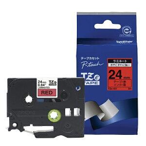 ピータッチ ラミネートテープ 赤ラベル TZe-451 [黒文字 24mm×8m]