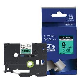 ブラザー brother 【ブラザー純正】ピータッチ ラミネートテープ TZe-721 幅9mm (黒文字/緑) TZe TAPE 緑 TZe-721 [黒文字 /9mm幅][TZE721]