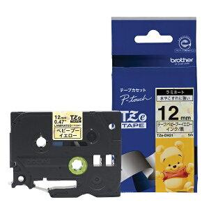 ピータッチ ディズニーキャラクターテープ ベビープーイエローラベル TZe-DH31 [黒文字 12mm×5m]