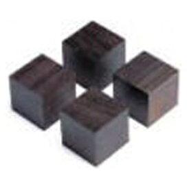 山本音響工芸 YAMAMOTO アフリカ黒檀製キューブベース (4個1組) QB-3[QB3]